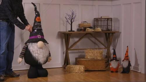 Large Halloween Plush Gnome