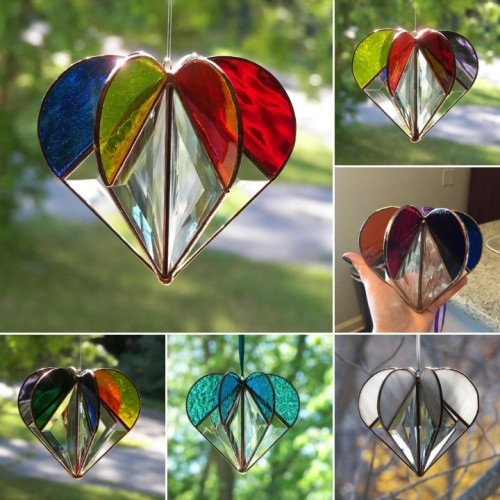 Stained Heart-shaped Suncatcher-The Best Gift