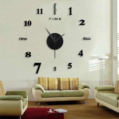 Frameless DIY Wall Mute Clock