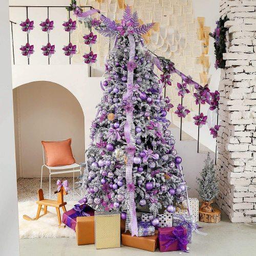 Christmas Glitter Poinsettia Flower