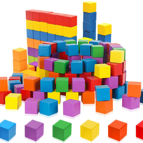 Colorful cube blocks