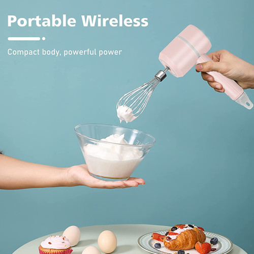 Rechargeable Wireless Mixer Portable Electric Food Mixers Handheld Blender Power Dough Blender