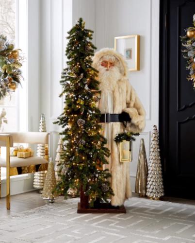 ✨🎅Santa with Lighted Christmas Tree