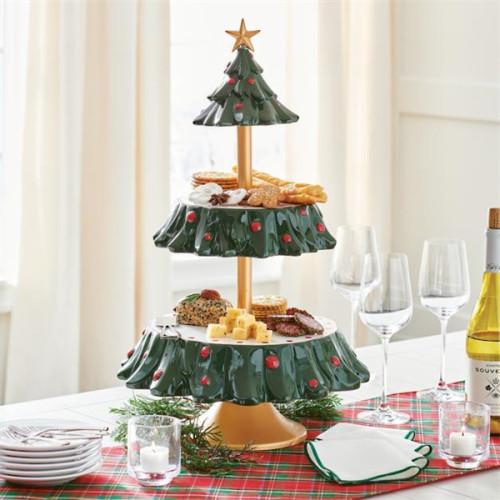 Christmas Snacks Tiered Server