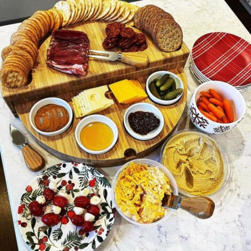 Compact Swivel Cheese Tapas Board
