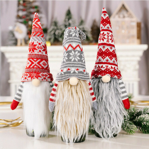 Creative Christmas Gnome Wine Bottle Covers Decorations