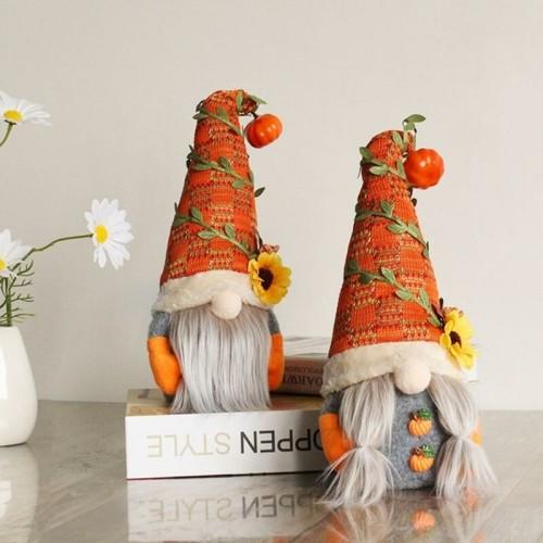 🎃 Lovely Pumpkin Fall Gnome for Halloween & Christmas 🎄