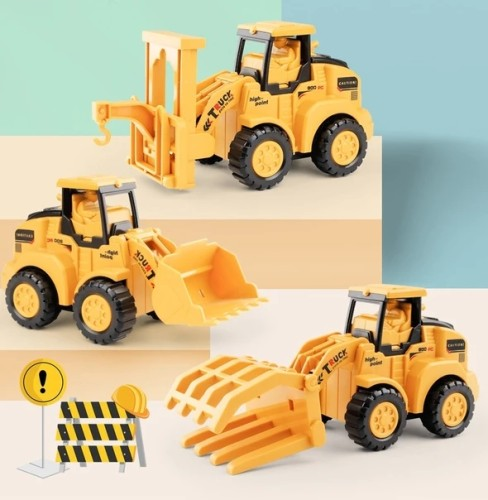 Press and Go Engineering Car Toys