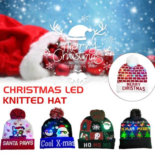 (🎅 Christmas Early Special Offer - 50% OFF) LED Knitted Christmas Hat