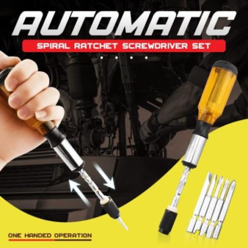 Push Pull Ratchet Screwdriver Set
