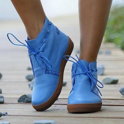 Lace-Up Artificial Leather Sneakers