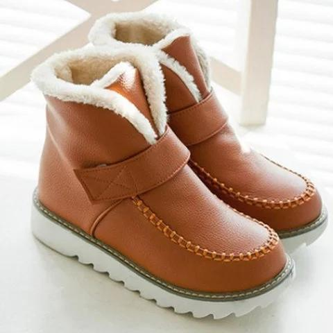 *Women Plus Size Magic Tape Snow Boots Casual Shoes