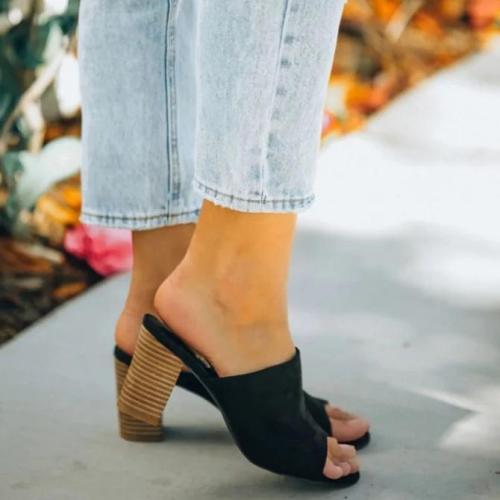 Daily Summer Block Heel Slippers