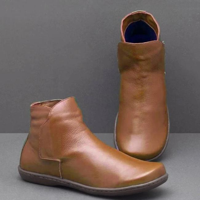 Slip On Daily Winter Flat Heel Boots