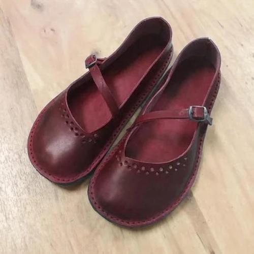 Retro Flat Comfortable Women's Closed Toe Loafers