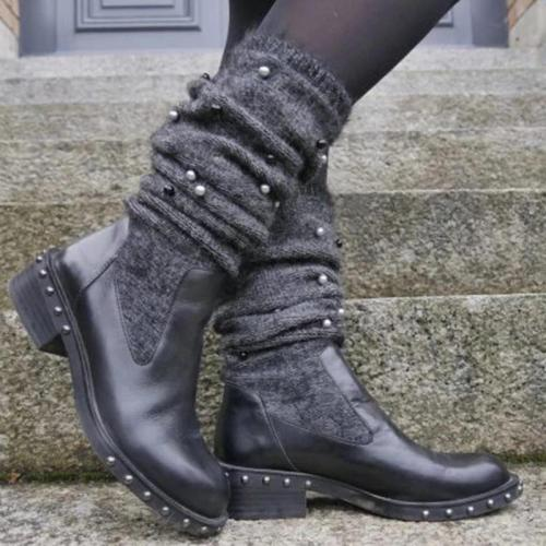 New Fashion Comfortable Low Heel Wool Warm Boots