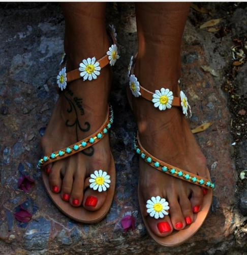 Large Size Women Summer Hippie Chic Sandals Holiday Sandals Bohemian Style