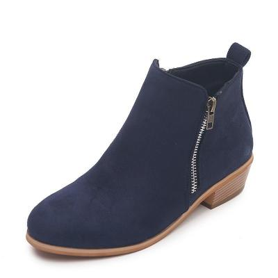 Women's Fashion Vintage Chunky Low Heel Short Boot Ankle Booties