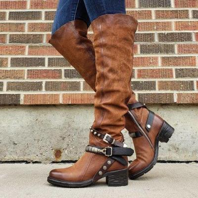 Winter Suede Low Heel Daily Boots