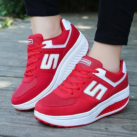 Women Running Comfortable Platform Sport Sneakers Shoes
