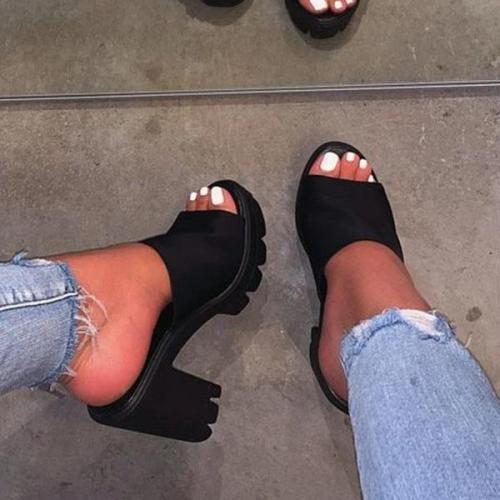 Platform High Heel Casual Sandals