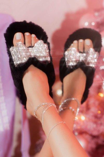 All-Around Multi Faux-Fur Sandal