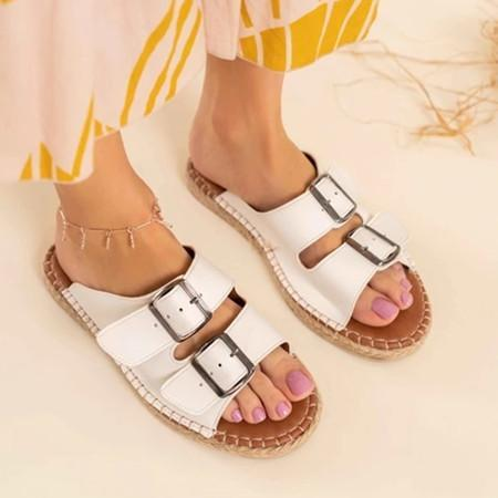 Roma Pu Buckle Sandals