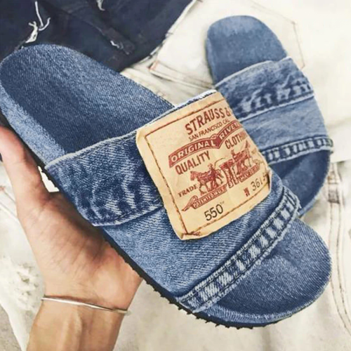 Women's Stylish Denim Slides