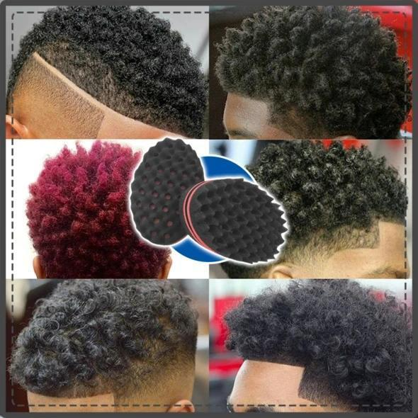 Magic Afro Curl Sponge - achieves defined & flawless twist, curls & coils in minutes