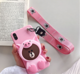 Doll pouch mobile phone case Lanyard Set For iPhone