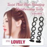 Twist Plait Hair Braiding Hairdressing Tools (2pcs)