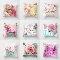 Rustic Rose Series Pillow case Car Sofa Hug Pillowcase for Home Decorations