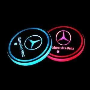 7 Colors Led Changing Car Logo Cup Coaster (2 PCS Set) - charging for half an hour, could be used for 7 days