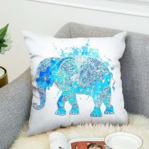 Bohemian Style  Pillow case  Elephant Double-sided Printing Cushion Cover Linen Cotton Throw Pillow Case Home