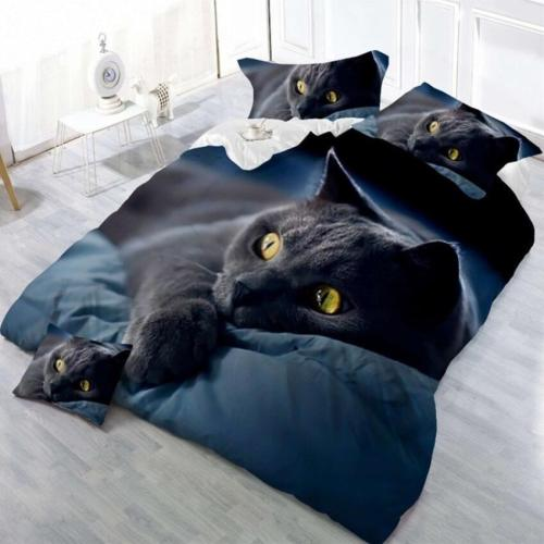 3D Cat Printing Bedding Sets