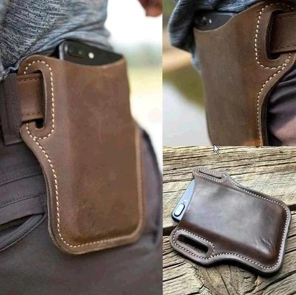 Retro Short Cell Phone Case Belt Bag