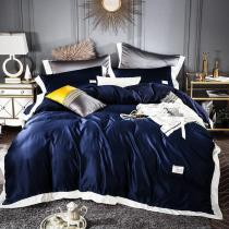 Solid Color Washed Silk Bedding Sets