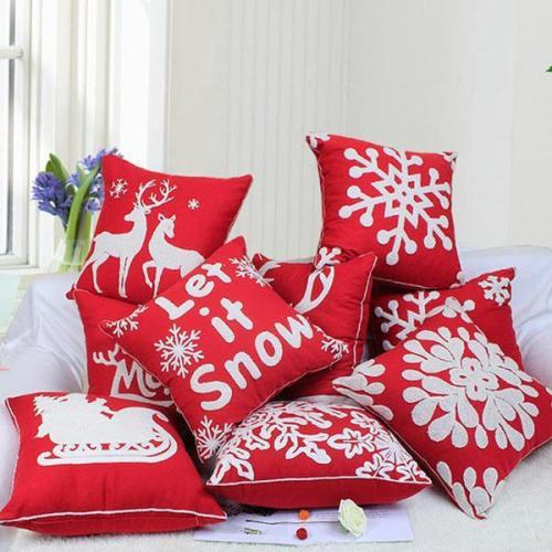 Embroidered Pattern Pillow case Car Sofa Hug Pillowcase for Home Decorations