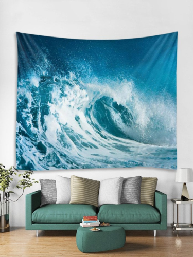 Sea Wave 3D Wall Tapestry