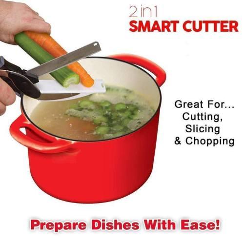 2 in 1 Smart Cutter-effortlessly cut through food fast