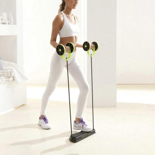 Double Wheel AB Roller-Adjustable height and length band provides you with the best ultimate resistance
