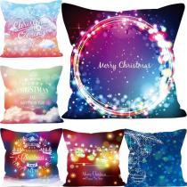 Christmas Pillowcase Dreamy Color Series Pillow case Car Sofa Hug Pillowcase
