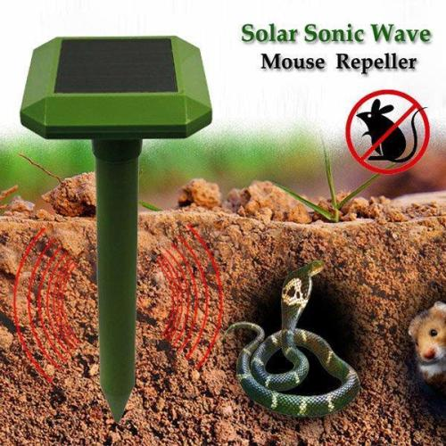 Garden Tools GreatHouse Solar Power Sonic Wave Mouse Snake Repeller Outdoor Garden Animal Expeller