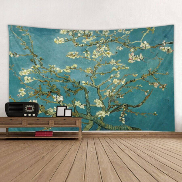 Oil Painting Flower Tapestry Art Decoration