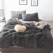 Luxury Mink Velvet Bedding Set Winter Soft Quilt Cover Bed Sheet Pillowcase