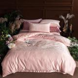Ice Silk Plain Bedding Sets