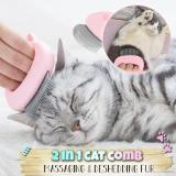 Pet Hair Removal Massaging Shell Comb
