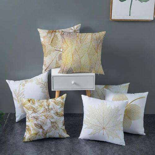 Golden Leaves Series Pillow case Car Sofa Hug Pillowcase for Home Decorations