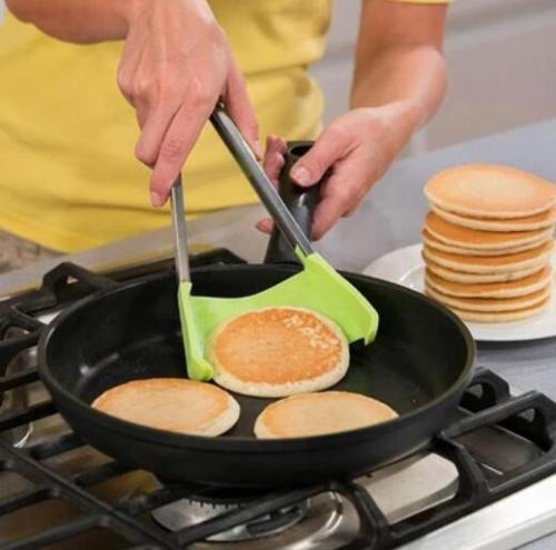 Multi-functional Kitchen 2-in-1 Spatula Tongs- Non Stick &Heat Resistance
