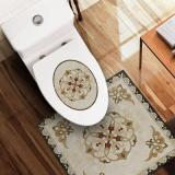 Waterproof and Non-slip Nordic Mosaic Floor Tiles and Toilet Stickers